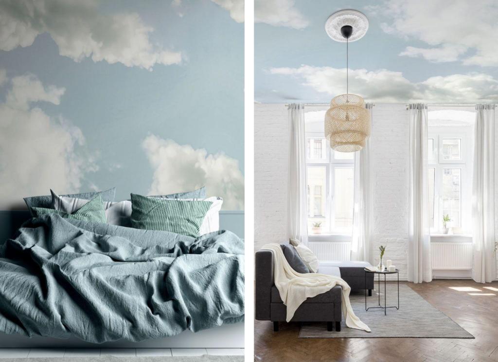 papier peint nuage