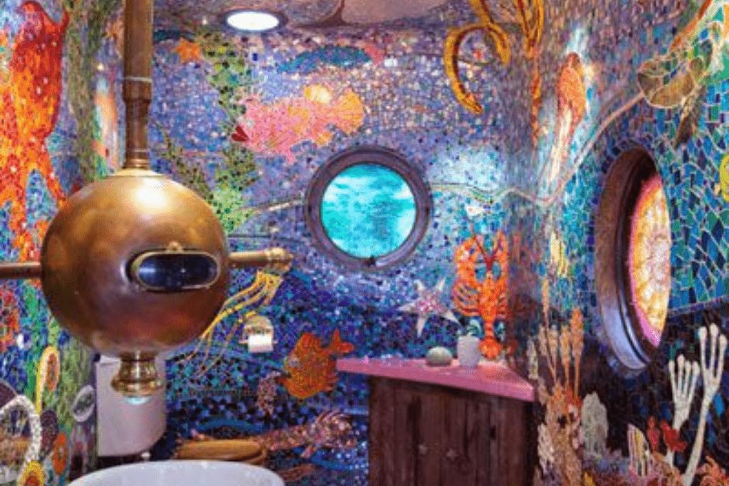 salle de bain - sous-marin